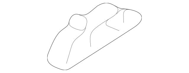 1997-2004 Chevrolet Corvette Front Deflector Brace