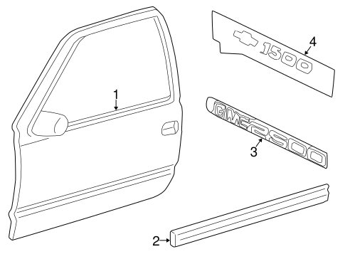 Body Side Molding for 2002 Chevrolet Silverado 2500 HD