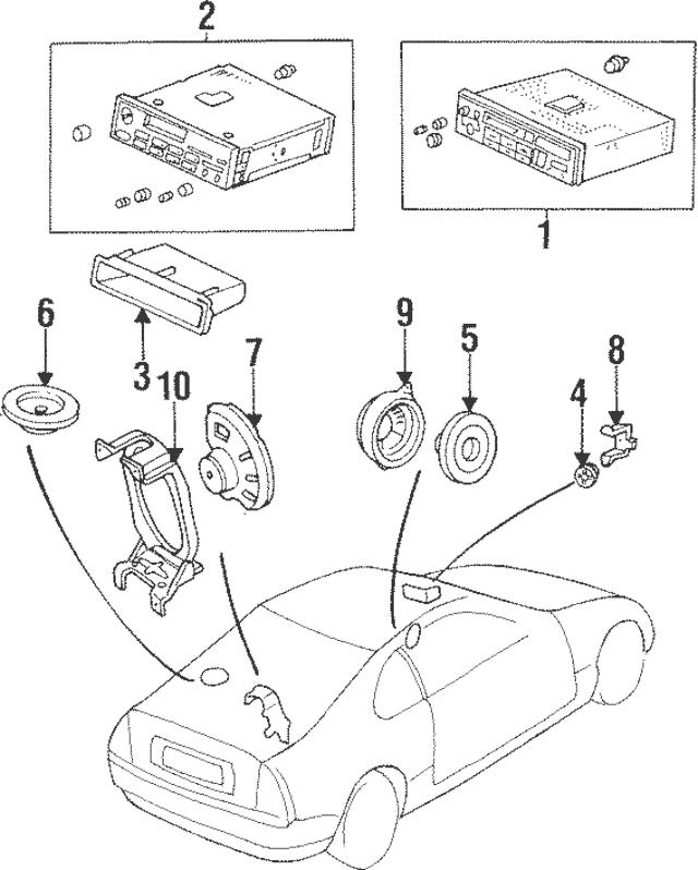 Genuine 1992-1996 Honda PRELUDE COUPE Bracket, L Front