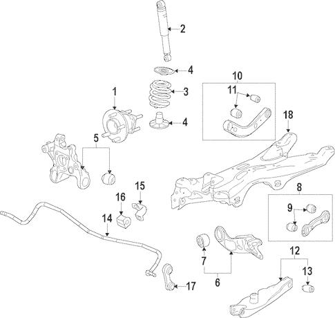 OEM 2014 Chevrolet Impala Rear Suspension Parts