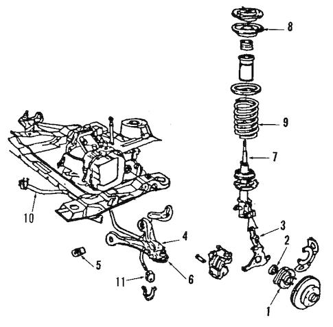 OEM 1993 Buick Century Front Suspension Parts