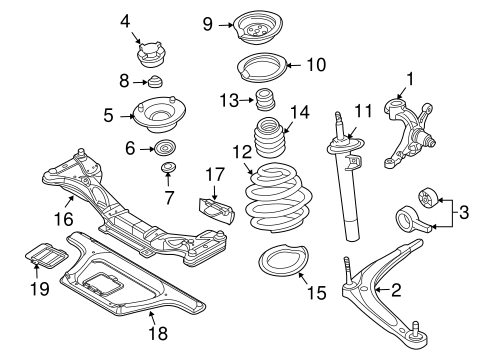 Suspension, Springs & Related Components for 2003 BMW Z4