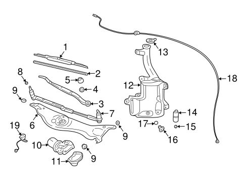 WIPER & WASHER COMPONENTS for 2006 Cadillac CTS