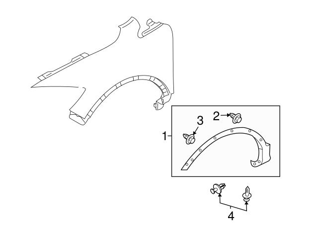 2007-2015 Mazda CX-9 Wheel Opening Molding TD11-51-W20G