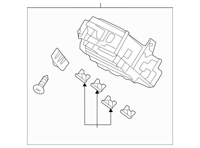 2014 Honda ACCORD HYBRID SEDAN Box Assembly, Fuse