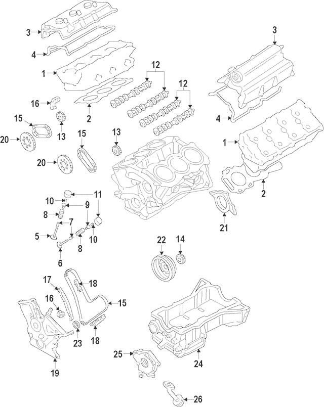 2009-2015 Mazda Rear Main Seal Retainer CY01-11-31XF