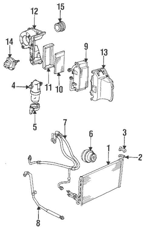Condenser, Compressor & Lines for 1993 GMC Sonoma (SLE
