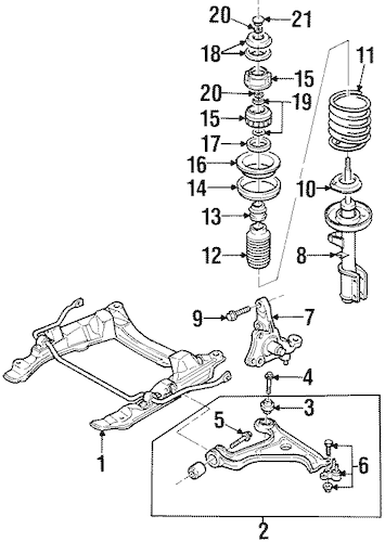 OEM 1998 Cadillac Catera Suspension Components Parts
