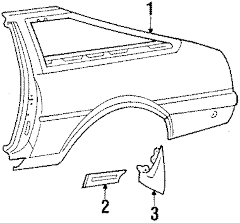 QUARTER PANEL for 1986 Toyota Corolla