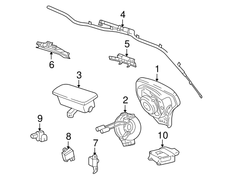 OEM 2003 Pontiac Vibe Air Bag Components Parts