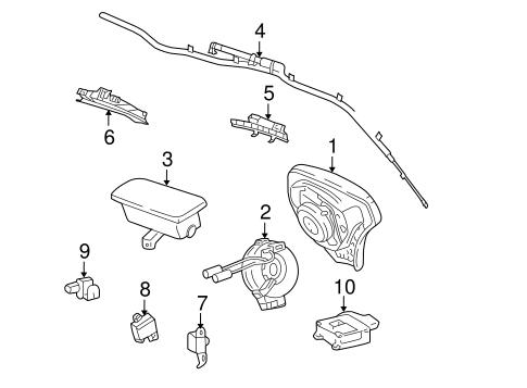 OEM 2004 Pontiac Vibe Air Bag Components Parts