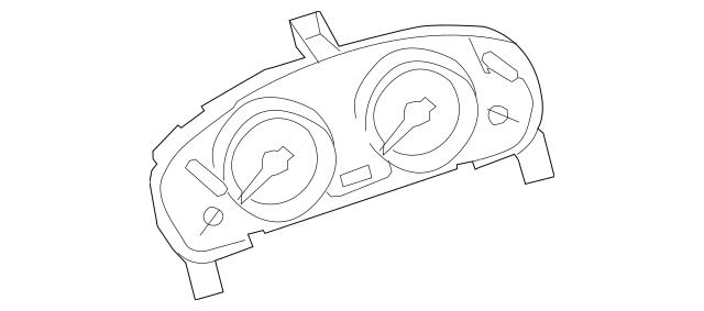 2007-2008 Mazda CX-9 Cluster Assembly TD16-55-471B