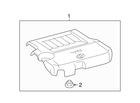 Genuine OEM Engine Appearance Cover Parts for 2013 Toyota