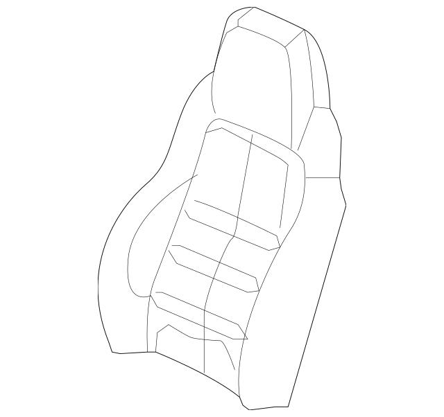 2008-2009 Chevrolet Corvette Seat Back Cover 19123989
