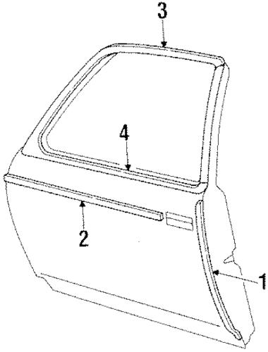 OEM DOOR & COMPONENTS for 1984 Chevrolet Chevette