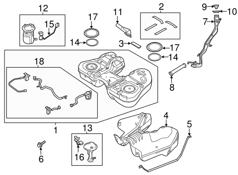Fuel System Components for 2014 Ford Flex
