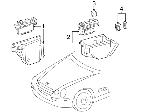 Fuel System Components for 2001 Mercedes-Benz CL 500