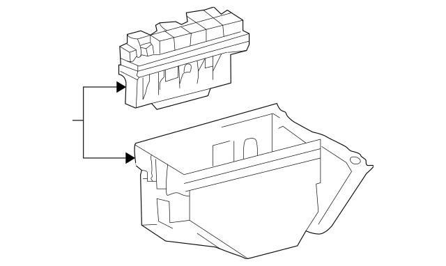 Genuine OEM Fuse Box Part# 002-545-20-01 Fits 2000-2006