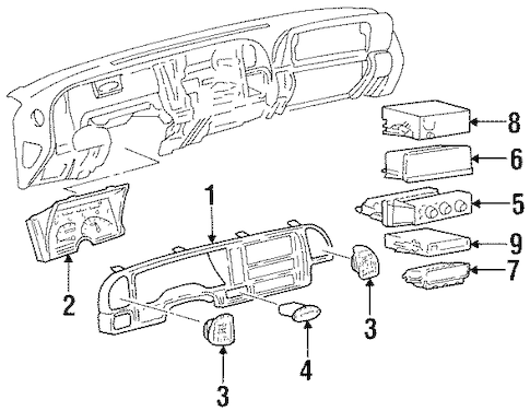 CONTROLS Parts for 1999 Chevrolet Tahoe