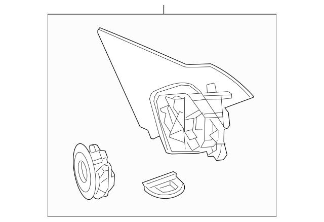 2013-2017 Honda ACCORD SEDAN Bracket, L Base (R.C.) 76258