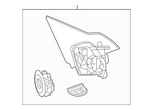 OEM Honda Bracket, L Base *B575P* (Still Night Pearl) For