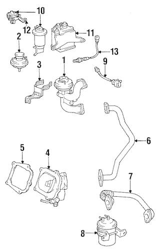 EGR SYSTEM for 1998 Toyota Avalon