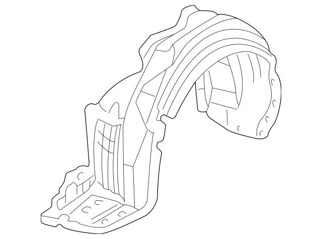 1999-2004 Acura RL SEDAN Fender, L Front (Inner) 74151-SZ3