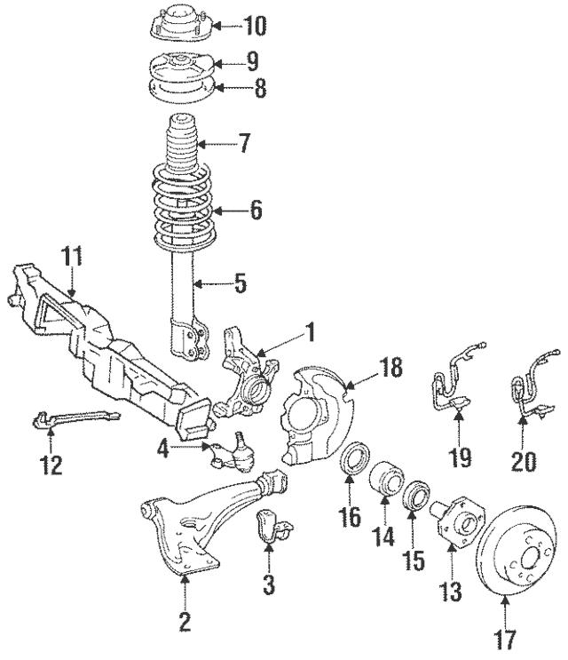 1991-1997 Toyota Lower Control Arm Bracket 48652-10020