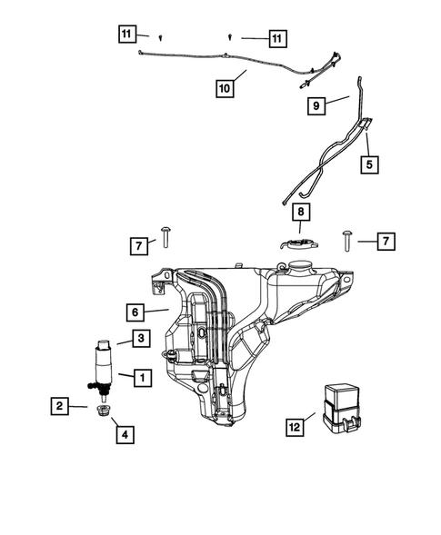 Wiper and Washer System for 2008 Chrysler Sebring