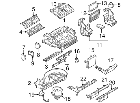 Evaporator & Heater Components for 2005 Buick Terraza