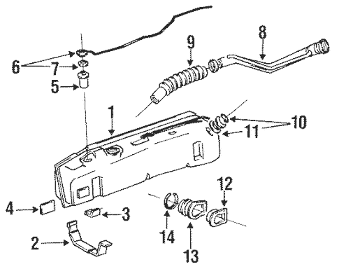 Genuine OEM Fuel System Components Parts for 1991 Toyota