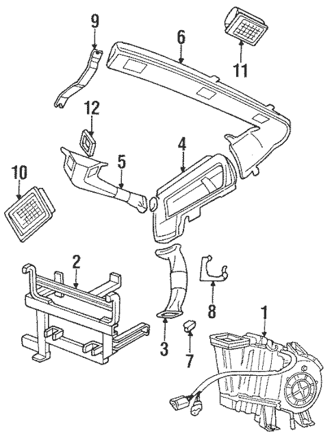 Evaporator & Heater Components for 1996 Land Rover