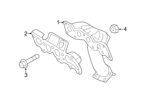 EXHAUST MANIFOLD for 2010 Ford Escape