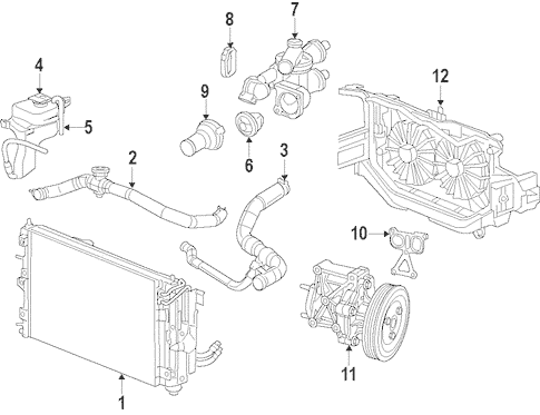 Radiator & Components for 2012 Jeep Compass Parts