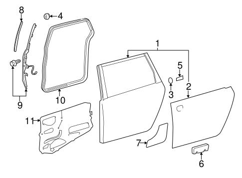 Genuine OEM Door & Components Parts for 2013 Toyota Sienna
