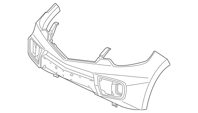 2010-2012 Acura RDX 5-DOOR Face, Front Bumper (DOT) 04711
