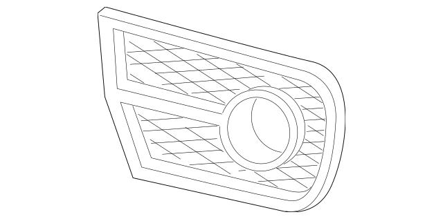 2010-2012 Acura RDX 5-DOOR Molding, R Front Fog Light