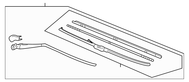 Acura Arm & Blade, Rear Windshield Wiper 76740-S3V-A04