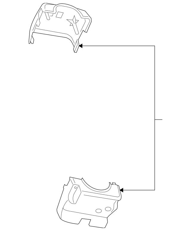 2002-2012 Dodge Ram Dakota Steering Column Shroud Cover