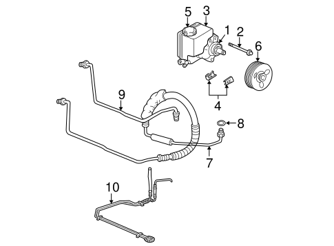 OEM 2004 Chevrolet Impala Pump & Hoses Parts