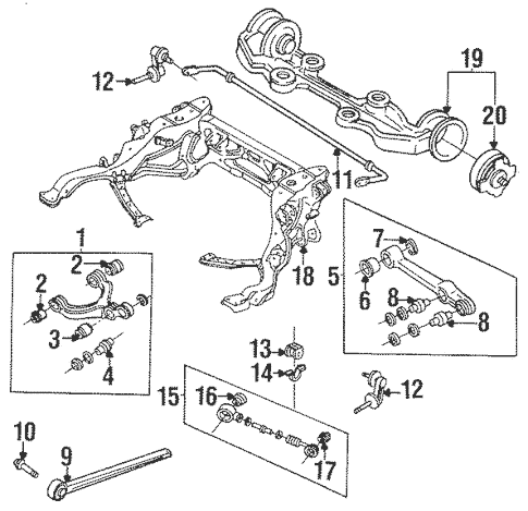 Stabilizer Bar & Components for 1995 Mazda RX-7