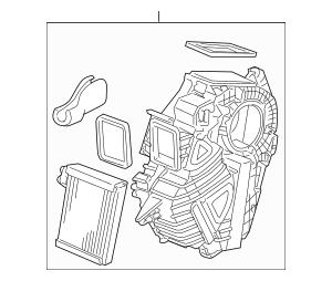 Genuine 2005-2006 Honda ODYSSEY 5-DOOR Evaporator Assembly