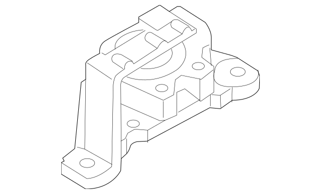 2004-2010 Mazda 3 Rubber, No.3, Engine Mount BBM4-39-060D