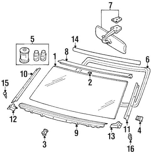 Side Molding Spacer for 1991 Nissan Pathfinder|90382-01B00