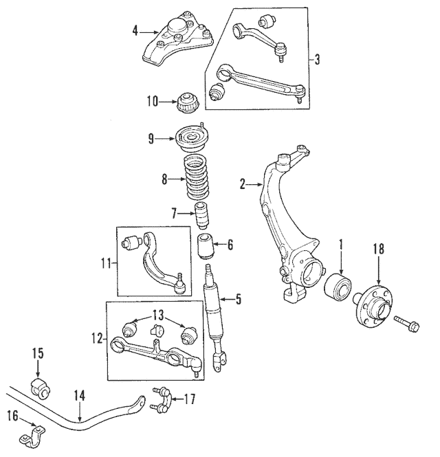 1998-2005 Volkswagen Passat Rear Lower Control Arm 8E0-407