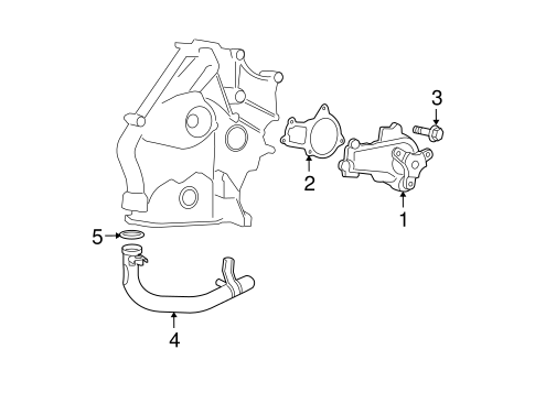 WATER PUMP for 2010 Chrysler Town & Country