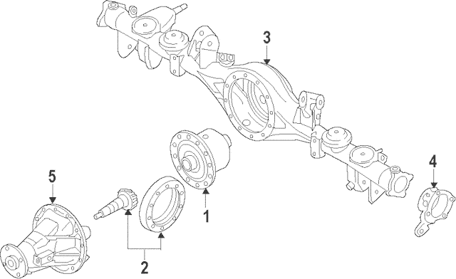 2007-2009 Kia Sorento Differential Assembly 53000-3E351