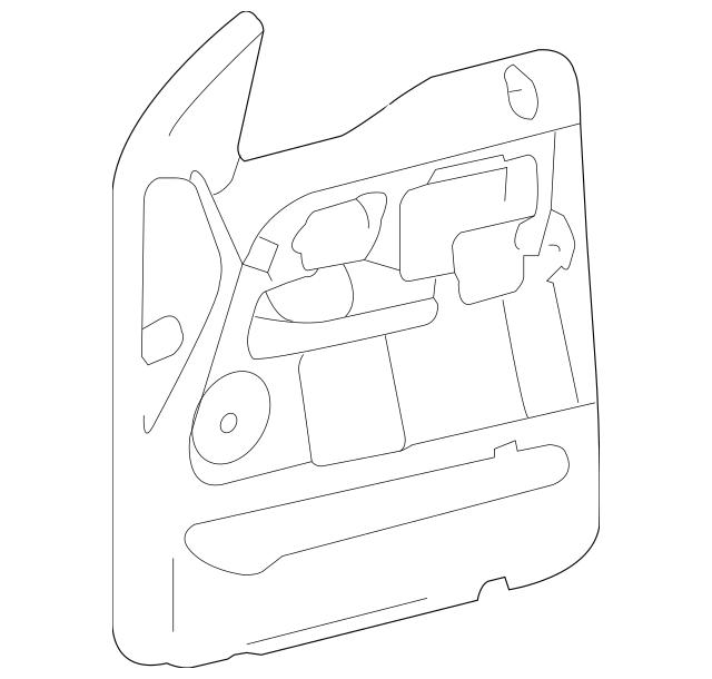 Ford F-150/Lincoln Mark Lt Rh Right Passenger Side Door
