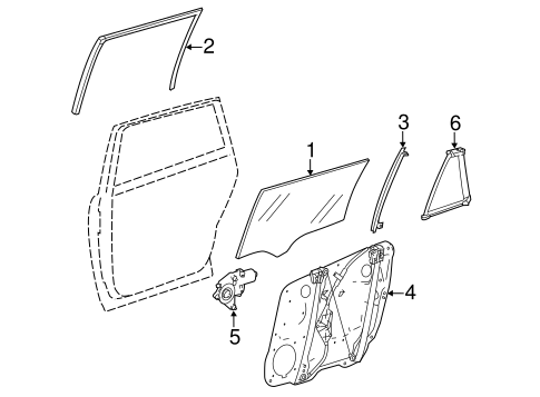 Glass, Windows & Related Components for 2007 Mercedes-Benz