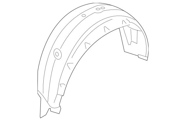 OEM NEW 2006-2014 Subaru B9 Tribeca Splash Shield Left